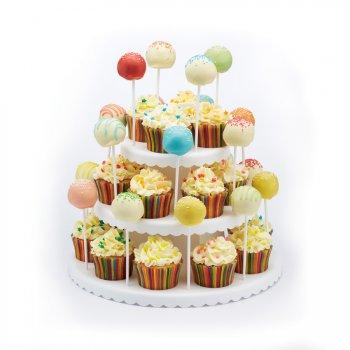 Présentoir 2 en 1 Cupcakes + Cakes Pop
