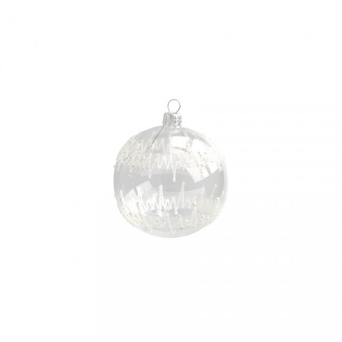 Boule Noël Transparente Zig Zag (8 cm) - Verre