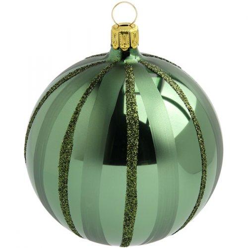 Boule Noël Verte Tradition (10 cm) - Verre