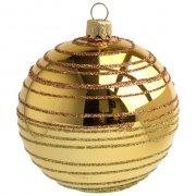 Boule Noël Or Spirales (8 cm) - Verre