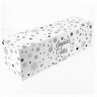 Boîte à Bûche Joyeuses Fêtes (35 cm) - Carton