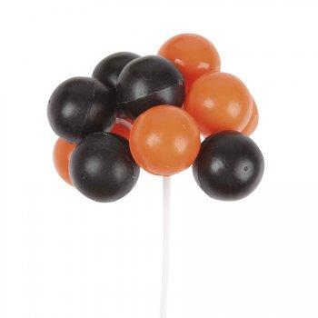 Mini-Ballon sur tige orange et noir