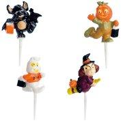 4 Figurines en plastique � piquer Halloween
