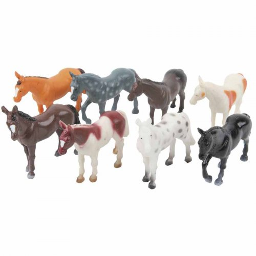 4 Figurines Cheval en Plastique