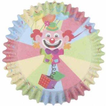 25 Caissettes à Cupcakes Clown