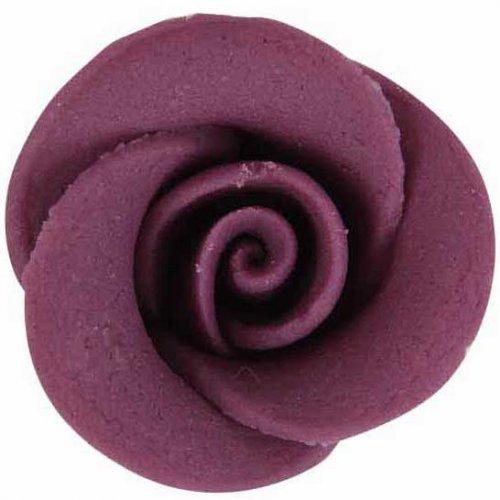 5 Roses multicolore en pâte d amande
