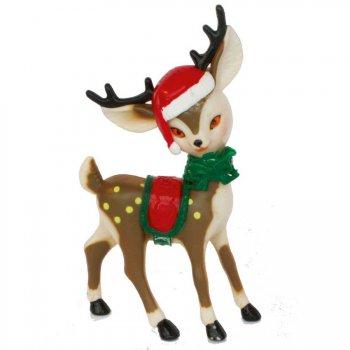 2 Grands Bambi en plastique