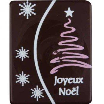 5 Plaquettes Arbre de Noël Blanc/Rose