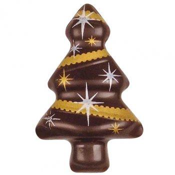 4 Sapins en chocolat Noir/Or/Argent