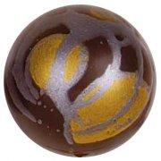 4 Boules chocolat Noir/Or/Argent