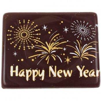 3 Plaquettes en chocolat Happy New Year