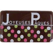 4 Plaquettes en chocolat Joyeuses Pâques
