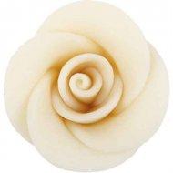 3 Roses blanches en pâte d'amande
