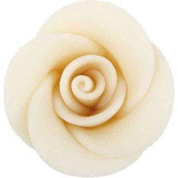 3 Roses blanches en pâte d amande