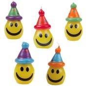 5 bougies Smiley avec chapeaux