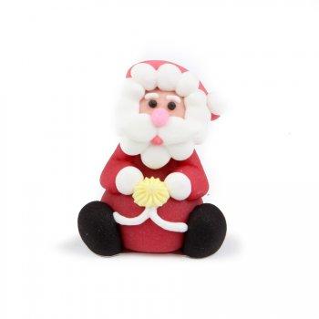 Lot de 3 Pères Noël en pâte d amandes 3D