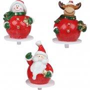 4 Pics personnages de Noël en plastique