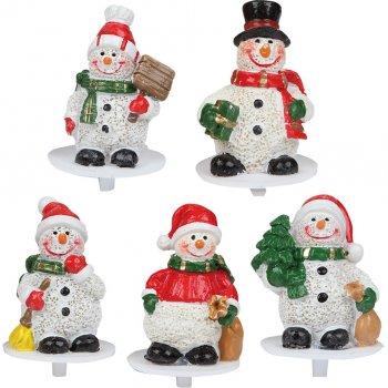 4 Pics Bonhomme de neige en plastique