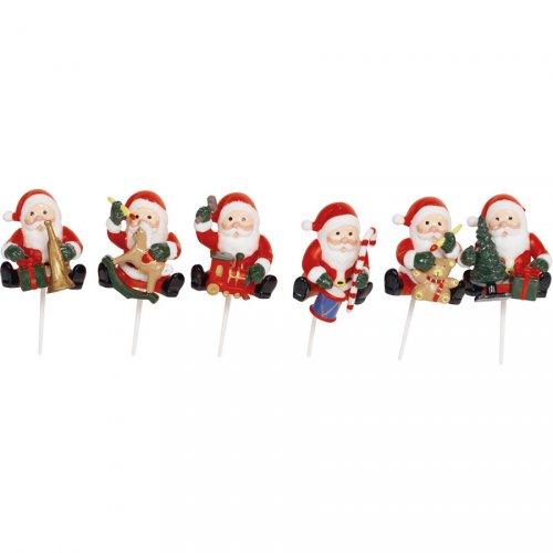 2 Pics Père Noël assis en plastique