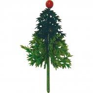 4 Pics sapins de Noël en plastique