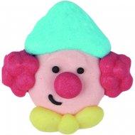 4 têtes de Clowns en sucre à plat