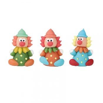 2 Clowns en pâte d amandes 3D