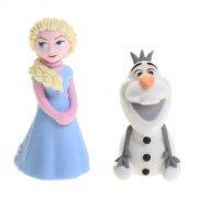 Figurines sucre Reine des Neiges Elsa et Olaf 3D