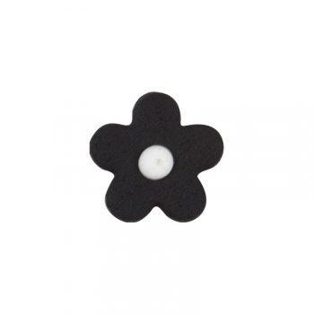 8 Petites Fleurs Noires en pâte d amandes