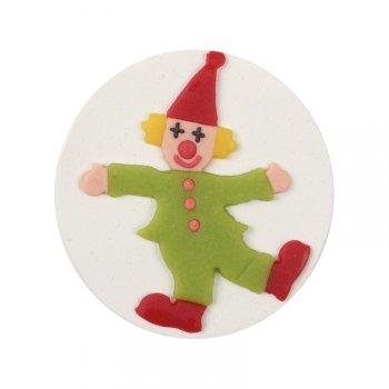 Plaquette clown en pâte d amandes