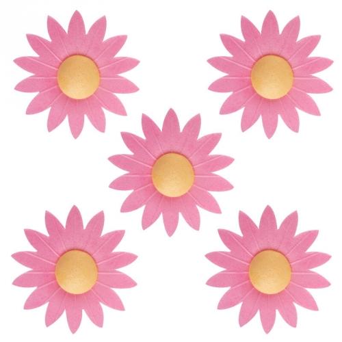 10 Marguerites Roses en azyme