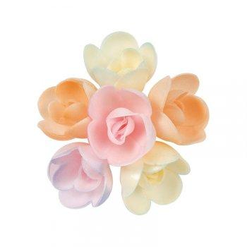 8 Boutons de Roses Pastels en azyme