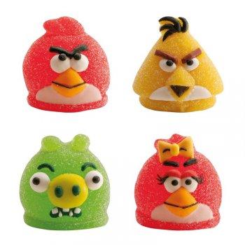 4 Figurines Angry Birds en gélifié