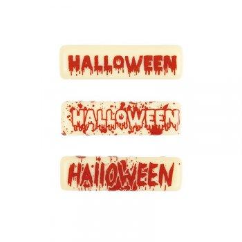 5 Plaquettes Halloween en chocolat blanc