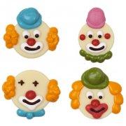 4 T�tes de clown en sucre et chocolat