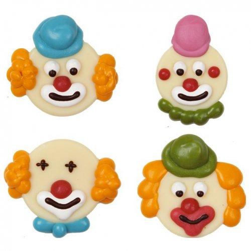 4 Têtes de clown en sucre et chocolat