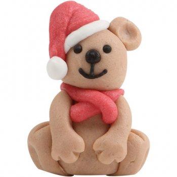 2 Oursons de Noël en pâte d amande