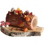 Lot de 3 Feuilles d'automne en chocolat