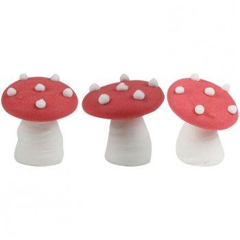 3 Champignons rouge en sucre