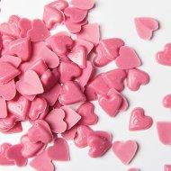 Sachet de 50g Coeurs en Chocolat Roses