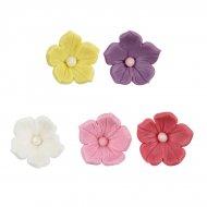 5 Fleurs en P�te � Sucre (3 cm)