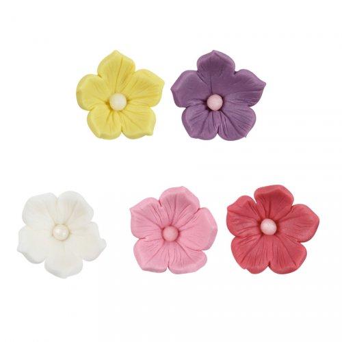 5 Fleurs en Pâte à Sucre (3 cm)