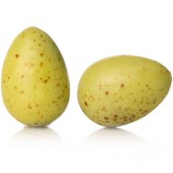 2 Oeufs Verts Chocolat Blanc (3 cm)