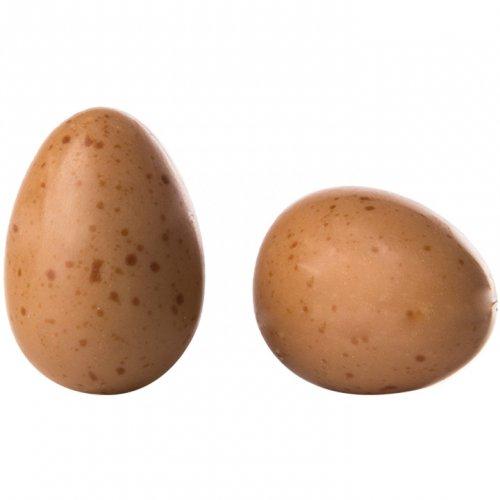 2 Oeufs Marron Chocolat Blanc (3 cm)