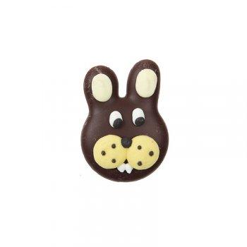 4 Têtes de lapins en chocolat