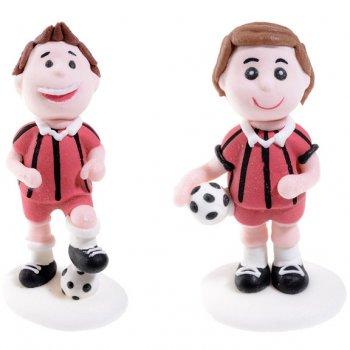 2 Footballeurs en sucre Rouge