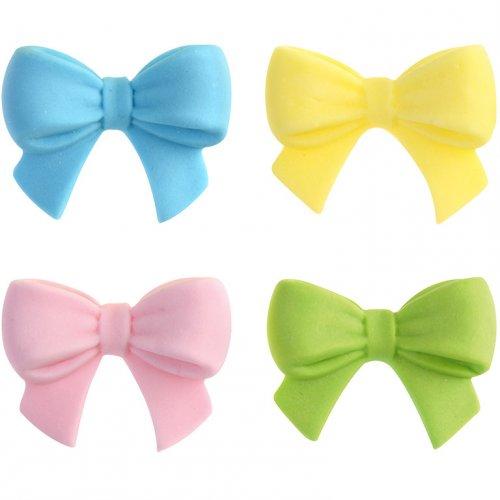 4 Petits Noeuds colorés en sucre