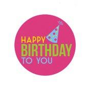 Mini Disque en Sucre Happy Birthday To You (7,5 cm)