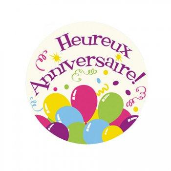 Mini Disque en Sucre Heureux anniversaire Ballons (7,5 cm)