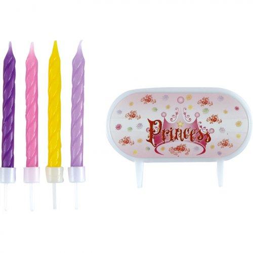 8 Bougies avec plaquette Princess
