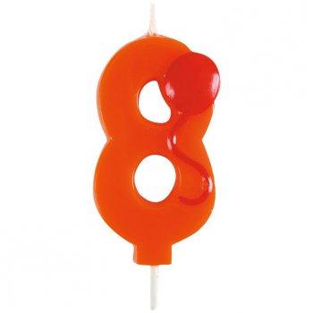 Bougie Ballon Chiffre 8
